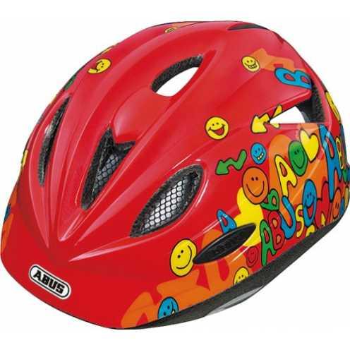 nachhaltig ABUS Kinder Fahrradhelm Rookie, Red, 52-57 cm, 48045 ökologisch