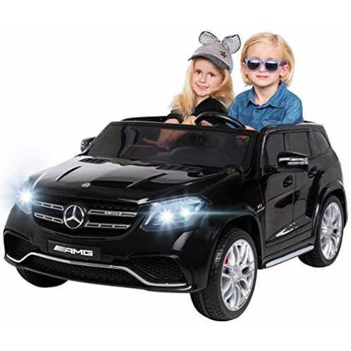nachhaltig Actionbikes Motors Kinder Elektroauto Mercedes GLS63 Allrad Leder Sitz Kinderfahrzeug Kinderauto 45 Watt 2 Sitzer (Sc... ökologisch