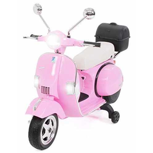 nachhaltig Actionbikes Motors Kinder Elektroroller Vespa PX150 - Lizenziert - 2x18 Watt Motor - Eva Vollgummi Reifen (Pink) ökologisch