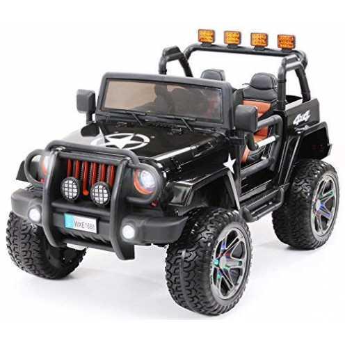 nachhaltig Kinder Elektroauto Jeep Wrangler Offroad - Lizenziert - 4x4 Allrad - Usb - Sd Karte - 4 x 35 Watt Motor - 2-Sitzer - ... ökologisch