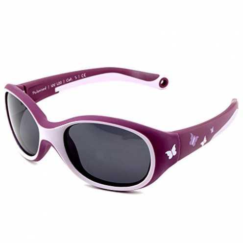 nachhaltig ActiveSol KINDER-Sonnenbrille | MÄDCHEN | 100% UV 400 Schutz | polarisiert | unzerstörb... ökologisch