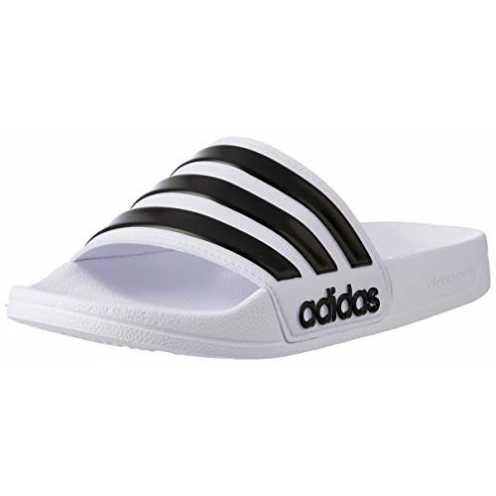 nachhaltig Adidas Adilette Shower, Herren Dusch- & Badeschuhe, Weiß (Footwear White/Core Black/Foo... ökologisch