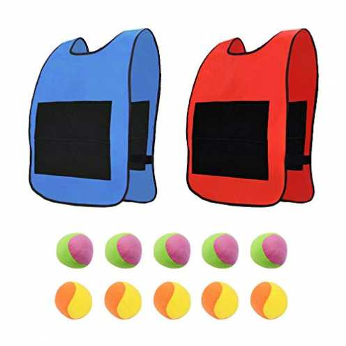 nachhaltig AiYoYo Wurfspiele Spielzeug Set 2 Stuck Oxford Tuch Sticky Weste mit Groß Klettverschlu... ökologisch