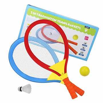 Akokie Tennisschläger Kinder Federball Set Badminton Racket Set Spielzeug Draussen Spie...