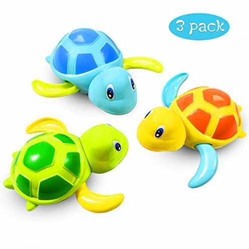nachhaltig Baby Badespielzeug Baby Bade Bad Schwimmen Badewanne Pool Spielzeug Uhrwerk Schildkröte... ökologisch