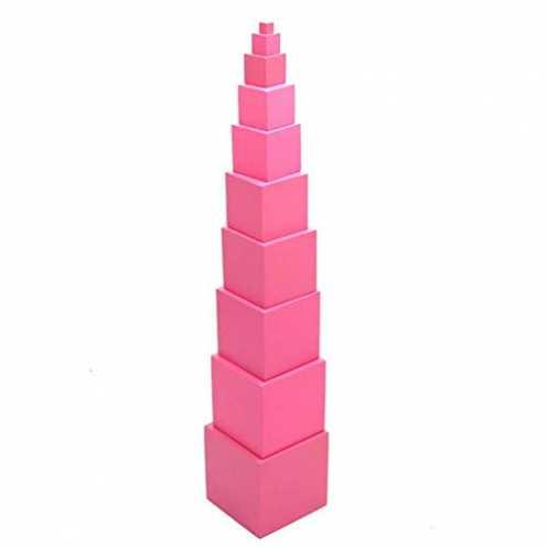 nachhaltig Ardorman Kinder Montessori Holz rosa blöcke Turm gebäude Spielzeug smart Puzzle, frühen... ökologisch