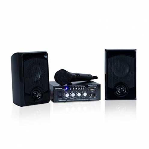 nachhaltig auna Karaoke Star 1 Karaoke-Set - Karaoke-System, Karaoke-Anlage, 2 x 50 W max, Bluetoo... ökologisch