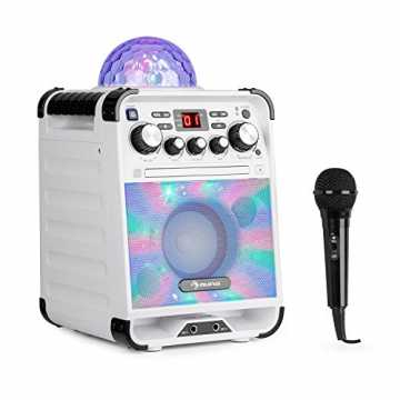 auna Rockstar - Karaoke-Anlage, Mini-Sound-System, Karaoke-System, LED-Jellyball, AVC-F...
