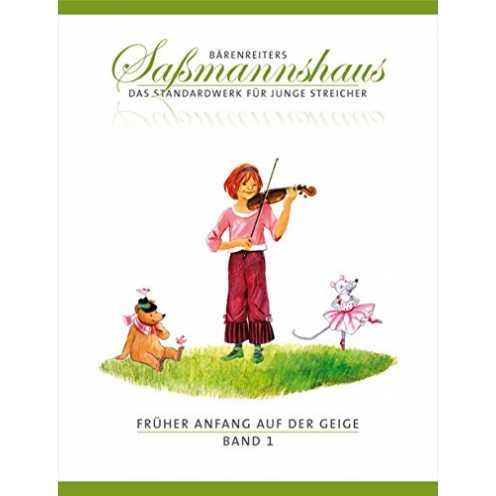 nachhaltig Früher Anfang auf der Geige, Band 1 -Eine Violinschule für Kinder ab 4 Jahren-. Bärenreiters Saßmannshaus. Spielpartitur ökologisch