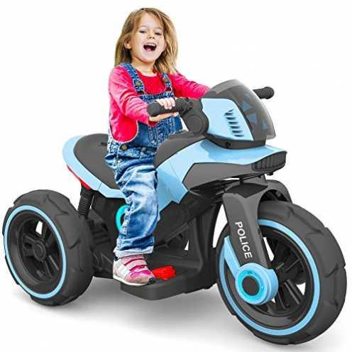nachhaltig Baby-pur Elektrisches Kinderfahrzeug Kinder Motorrad Trike Elektrofahrzeug mit Licht un... ökologisch