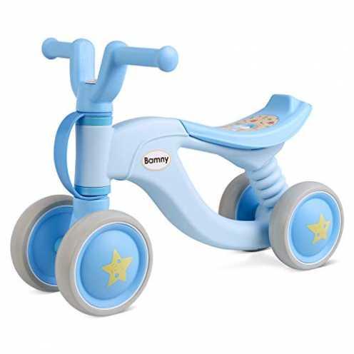 nachhaltig Bamny Kinder Laufrad superleichtes Lauflernrad für Baby und Kinder 1-3 Jahre Alt (Blau-... ökologisch