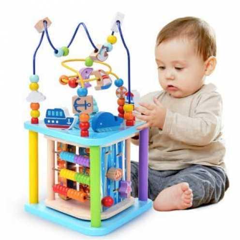 nachhaltig Baobë Würfel Spielzeug für Kinder, pädagogische Perle Labyrinth für Kleinkinder, Sea Wo... ökologisch