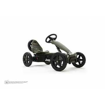 Berg Toys 24.40.10.00 Rally Jeep Adventure Pedal-Gokart Kinderfahrzeug, Schwarz/Grün