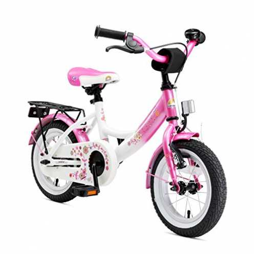 nachhaltig BIKESTAR Premium Sicherheits Kinderfahrrad 12 Zoll für Mädchen ab 3-4 Jahre | 12er Kinderrad Classic | Fahrrad für Ki... ökologisch