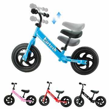 Birtech Laufrad Kinder ab 1 2 3 4 Jahre Balance Fahrrad 12 Zoll Kinderrad Lauffahrrad S...