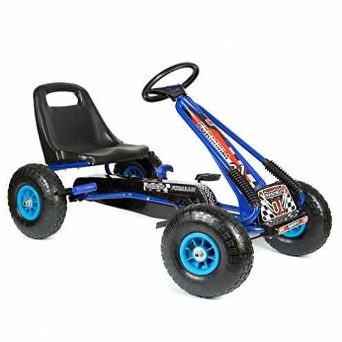 nachhaltig Bopster - Go-Kart mit Pedalen und aufblasbaren Reifen Go-Kart-Fahren Kinder Jungen Outd... ökologisch