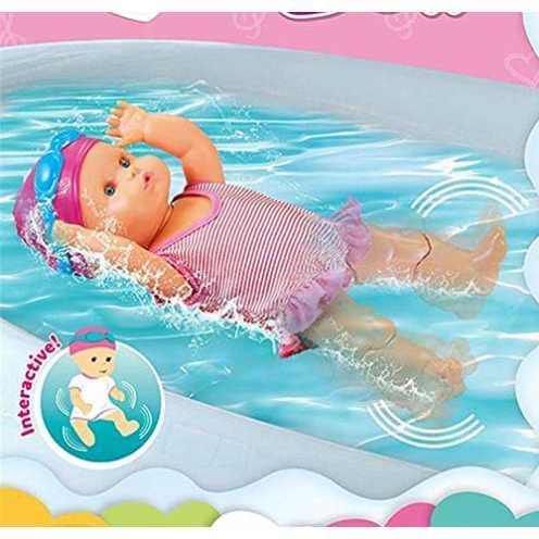 nachhaltig Interaktive Schwimmpuppe Baby Puppe mit Schwimm Funktion, Wasserspielzeug für die Badew... ökologisch