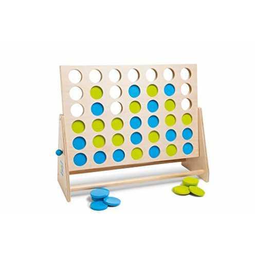nachhaltig BuitenSpeel GA279 - Spiel, Vier gewinnt Deluxe aus Holz, grün/blau ökologisch