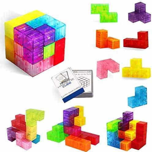 nachhaltig Buself Magnetische Bausteine Würfel Magnetische Steine für Kinder mit 54 Smarte Teile P... ökologisch