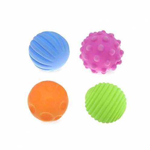 nachhaltig Carry stone 4 Stücke Baby Strukturierte Multi Ball Bunte Kind Touch Hand Ball Spielzeug... ökologisch