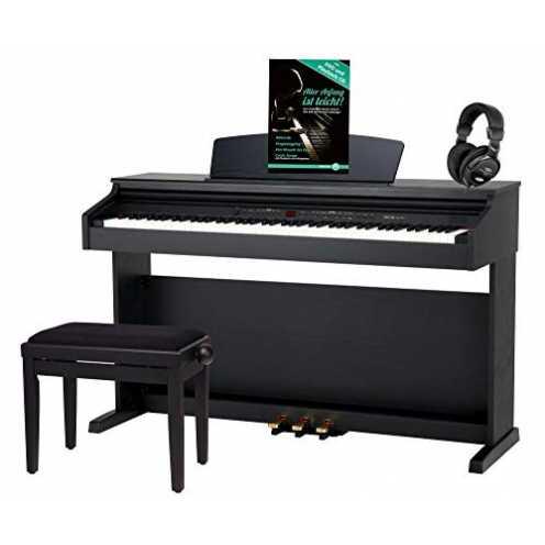 nachhaltig Classic Cantabile DP-50 SM E-Piano SET (Digitalpiano mit Hammermechanik, 88 Tasten, 2 Anschlüsse für Kopfhörer, USB, ... ökologisch