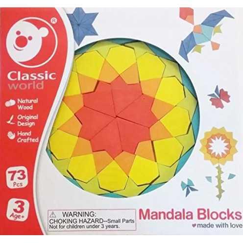 nachhaltig Classic World Mandala Holz Bausteine Mandalas für Kinder Bauklötze ökologisch