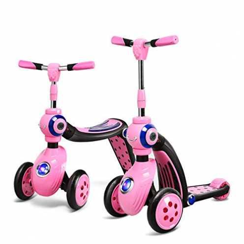 nachhaltigCOSTWAY 2 in 1 Laufrad und Scooter Kinder, Roller mit PU Rad, Kickboard Tretroller für Kinder ab 3 Jahren, Max. Belas... ökologisch