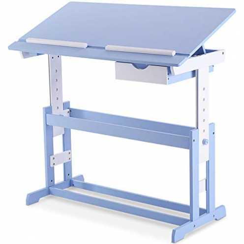 nachhaltig COSTWAY Kinderschreibtisch Kindermöbel Kinderzimmer Kindertisch Schreibtisch Schnülersc... ökologisch