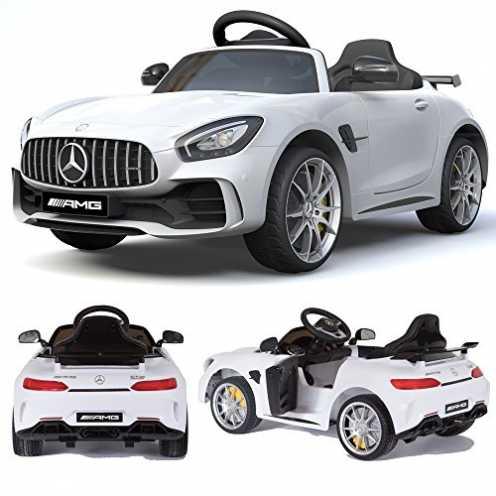 nachhaltig Mercedes-Benz GT-R GTR SoftStart Kinderauto Kinderfahrzeug Kinder Elektroauto (Weiss) ökologisch