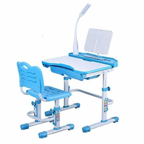 nachhaltig DiLiBee Kinderschreibtisch mit Stuhl und Schublade, Schülerschreibtisch Schreibtisch fü... ökologisch