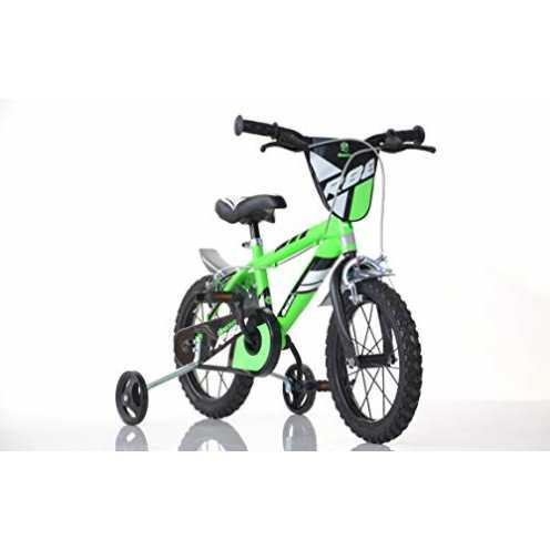 nachhaltig Jungen Kinderfahrrad grün 416U Jungenfahrrad - 16 Zoll | TÜV geprüft | Original | Kinderrad mit Stützrädern - Das Fah... ökologisch