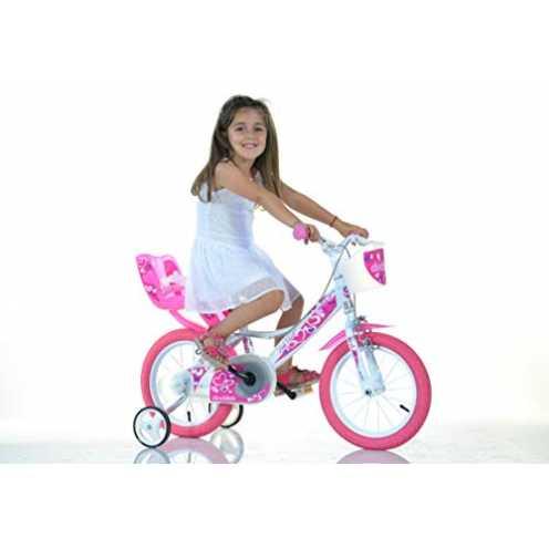 nachhaltig Mädchen Kinderfahrrad weiß 164RN Mädchenfahrrad - 16 Zoll   TÜV geprüft   Original   Kinderrad mit Stützrädern Das Fa... ökologisch