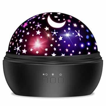 Dreamingbox Nachtlicht Kind, Nachtlicht Kinder Baby Sternenhimmel Projektor Lampe mit 8...
