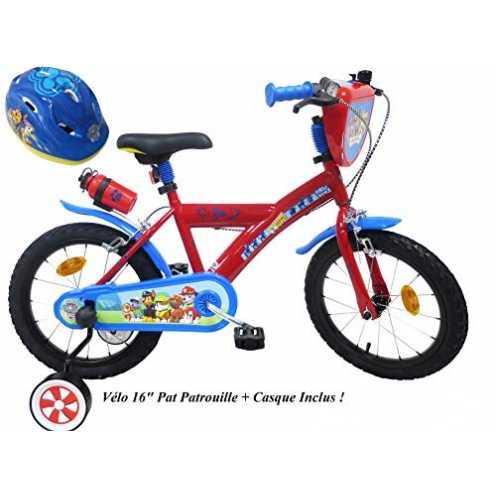 nachhaltig Fahrradhelm für Jungen, 16 Zoll, Paw Patrol 2 Bremsen PB/Kanister hinten + Fahrradhelm für Kinder, Mehrfarbig, 16 Zoll ökologisch