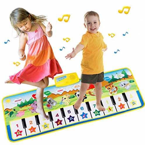 nachhaltig EXTSUD Piano Mat Tanzmatten Klaviermatte Musikmatte Kinder 8 Tierstimmen Klaviertastatu... ökologisch