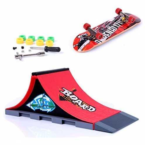 nachhaltig Mini Finger Skateboard und Ramp Zubehör Set ökologisch