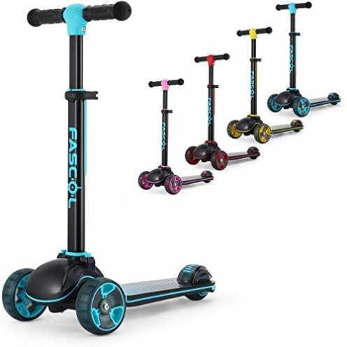 nachhaltig Fascol Kinderroller Klappbar Roller Scooter ab 3-12 Jahre Kinderscooter mit LED Räder Tretroller Belastbarkeit bis 60... ökologisch
