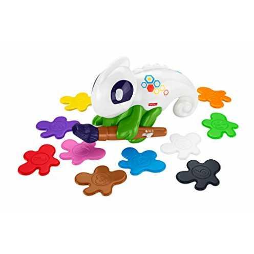 nachhaltig Fisher-Price FCG88 Lern-Chamäleon Kunterbunt interaktives Lernspielzeug für Farben, ab 3 Jahren ökologisch