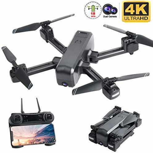 nachhaltig Flashbee F80 Drohne mit 4K Kamera für Erwachsene,Follow Me,WiFi-FPV-Live-Video,Lange Fl... ökologisch