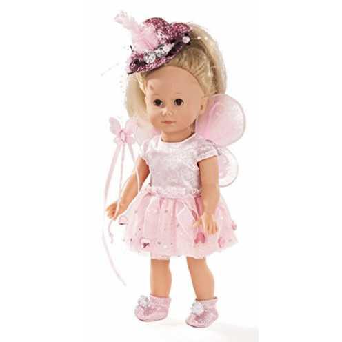nachhaltig Götz 1613027 Just Like me - Paula die Fee Puppe - 27 cm große Stehpuppe mit Langen blonden Haaren und braunen Schlafa... ökologisch