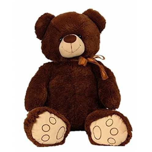 nachhaltig XXL Teddy Bär 100cm Dunkelbraun Kuschelbär Kuscheltier Stofftier Teddybär ökologisch