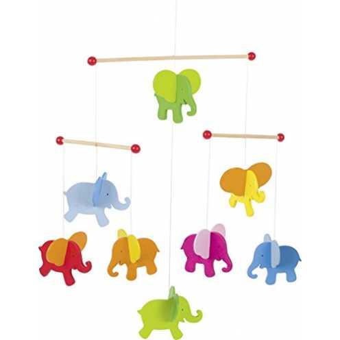 nachhaltig Mobile Elefanten: 40 x 45 cm, Holz, per Stück ökologisch