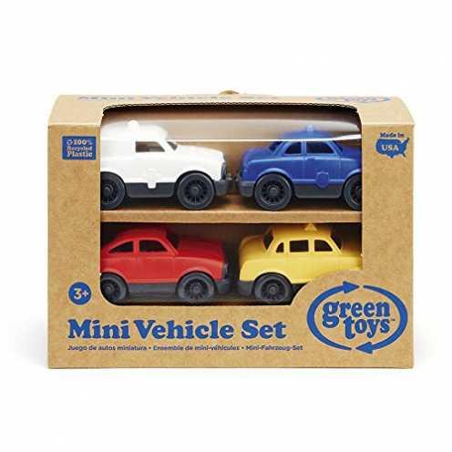 nachhaltig Green Toys Mini Autos 4er-Set Spielzeugauto Kleinkindspielzeug ökologisch