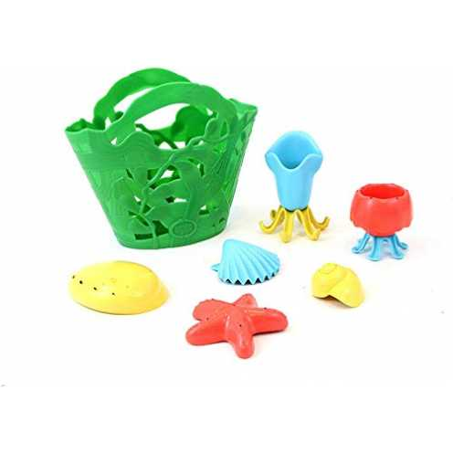 nachhaltig Green Toys TDP1-1311 Badewannenspielzeug, bunt ökologisch