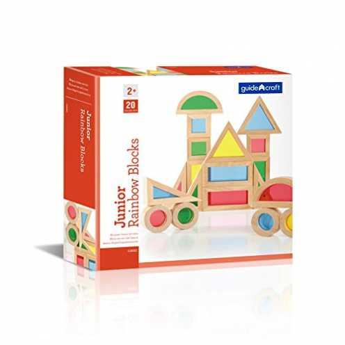 nachhaltig Guidecraft JR Regenbogen Lichtspiel Blöcke Set aus Holz (20 Stk.) ökologisch