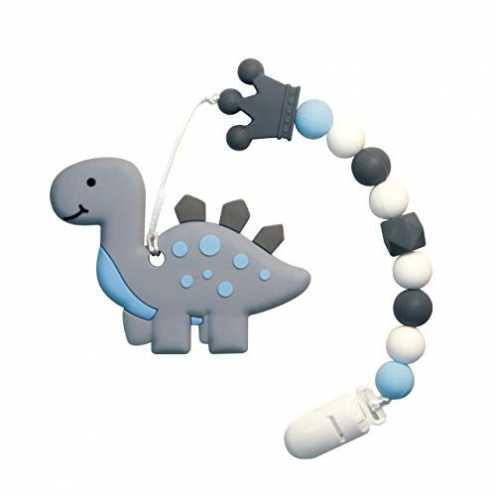 nachhaltig Beißring für Babys Baby Zahnungshilfe Kühlend Zahnen Spielzeug Zahnungshilfe BPA Frei Weich mit Schnuller Clip für Kl... ökologisch