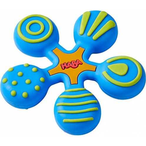 nachhaltig HABA 304289 - Greifling Stern blau, Baby- und Kleinkindspielzeug aus Kunststoff, hilft Babys ab 6 Monaten beim Zahnen... ökologisch