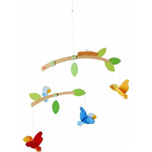 nachhaltig HABA 304314 - Mobile Vögelchen, Babyspielzeug für den Wickeltisch, stimuliert die Sinne von Babys, ideal als Geschenk... ökologisch