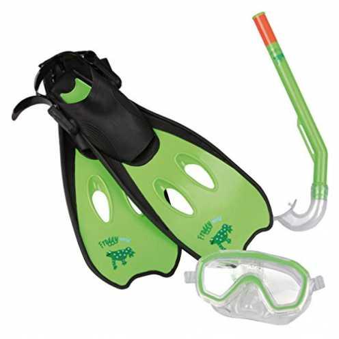 nachhaltig Kinder Tauchset Schwimmflossen Taucherbrille Schnorchel 3-6 Jahre ökologisch