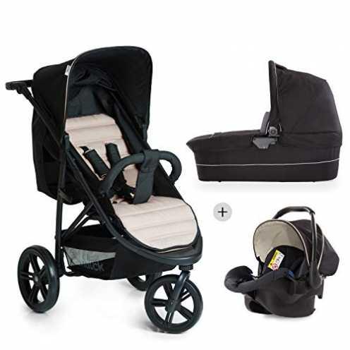 nachhaltig Hauck Rapid 3 Plus Trio Set Dreirad Kinderwagen Set bis 25 kg, isofix-fähige Babyschale, Babywanne mit Matratze ab Ge... ökologisch